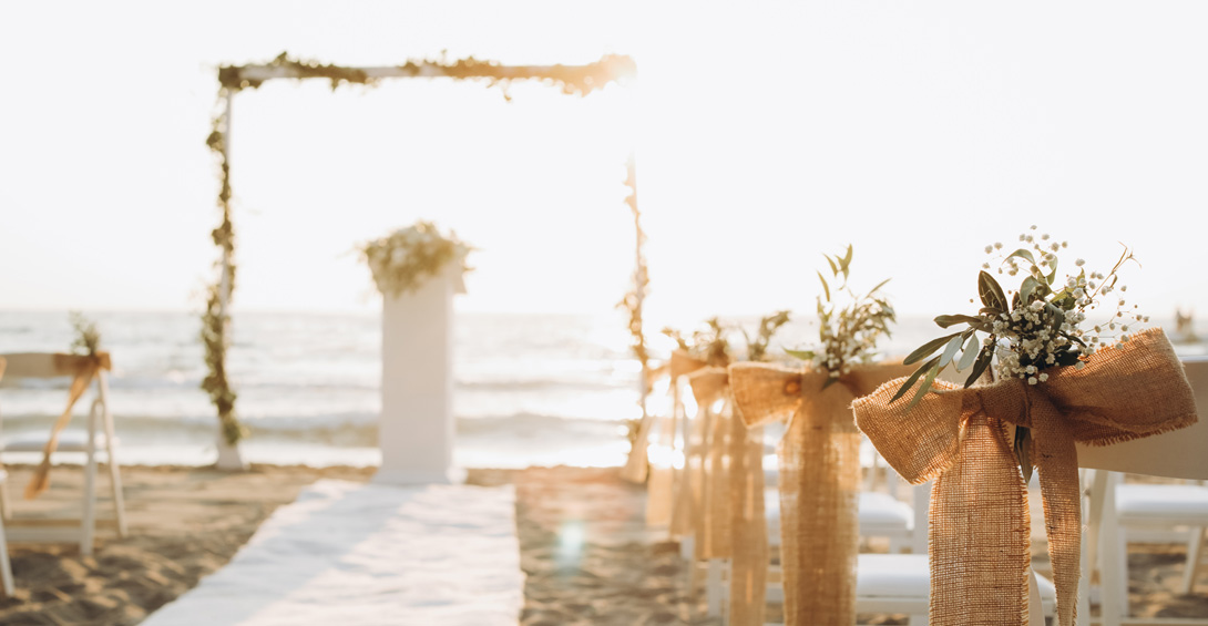 Anguilla beach ceremony alter