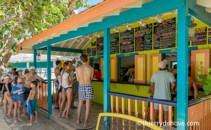 lunch blanchards beach shack anguilla