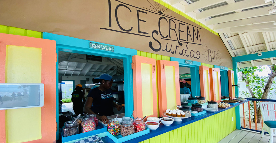 Ice cream sundae bar at Blanchards Beach Shack