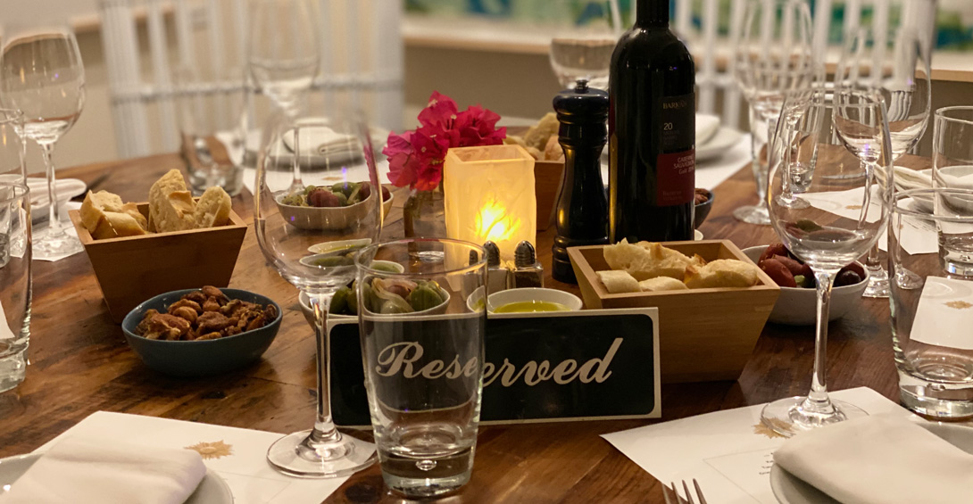 Private party reserved table at Blanchards Restaurant