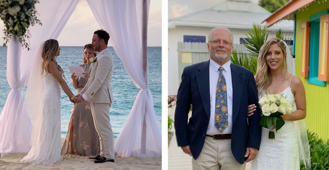 Anguilla wedding at Blanchards Beach Shack on Meads Bay beach