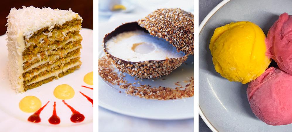 Blanchards legendary cracked coconut dessert ultimate carrot cake and lemon cake